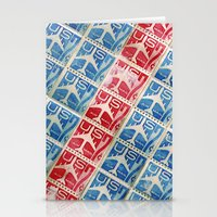Vintage Postage Stamp Collection - 03 (airmail diagonal) Stationery Cards