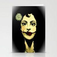 Black Dahlia Stationery Cards