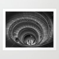 The Spiralling Staircase. Art Print