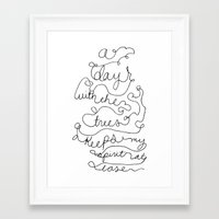 a day with the trees Framed Art Print