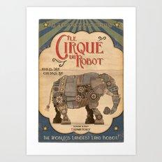 Robot Circus - Elephant Art Print
