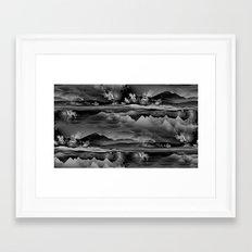 Residual Worlds (b&w) Framed Art Print