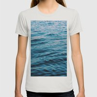 Calm Waters Womens Fitted Tee Silver SMALL
