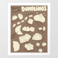 Know Your Dumplings Art Print