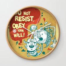 Obey your will Wall Clock