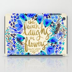 The Earth Laughs in Flowers – Gold & Blue iPad Case