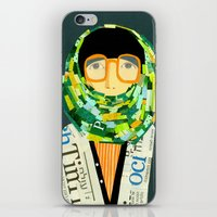 Portrait With Glasses iPhone & iPod Skin