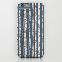 iPhone & iPod Case featuring Into The Woods blue cream by Floating Lemons