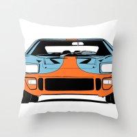 GT40 - Gulf Livery Throw Pillow