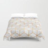 White Cubes Duvet Cover