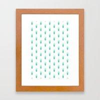 cactus - white Framed Art Print