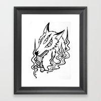 Demon Fox Framed Art Print