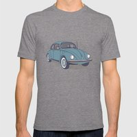 VW Beetle Mens Fitted Tee Tri-Grey SMALL
