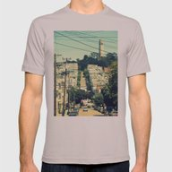 San Francisco Mens Fitted Tee Cinder SMALL