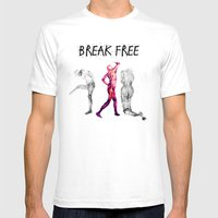 Break Free  Mens Fitted Tee White SMALL