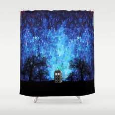 Lonely Tardis Doctor who Art painting iPhone 4 4s 5 5c 6, pillow case, mugs and tshirt Shower Curtain