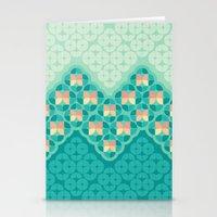 Blue Garden Pattern Stationery Cards