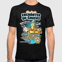 Enchanted Up Chucks Mens Fitted Tee Tri-Black SMALL