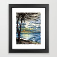 Kauai Sunrise Framed Art Print