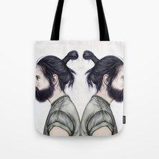 Beard & Top Knot Tote Bag