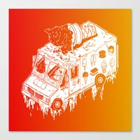 Melty Ice Cream Truck - sherbet Canvas Print