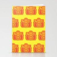 I Still Shoot Film Holga Logo - Yellow & Red Stationery Cards