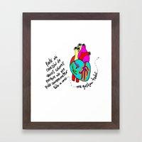corazón de colores Framed Art Print