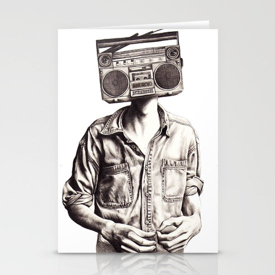 Radio-Head Stationery Card