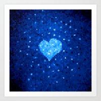 Winter Blue Crystallized… Art Print