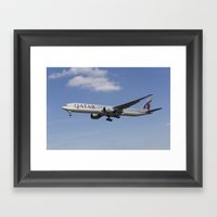 Qatar Airlines Boeing 777 Framed Art Print