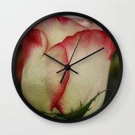 Peppermint Rose Wall Clock