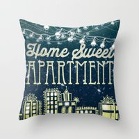 Home Sweet Apartment Throw Pillow