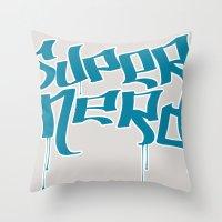 Super Nerd Throw Pillow