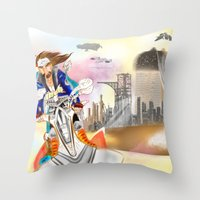 SCAPE AWAY. Throw Pillow