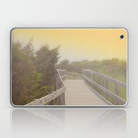 Boardwalk sunrise Laptop & iPad Skin