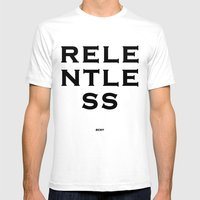 RELENTLESS Mens Fitted Tee White SMALL