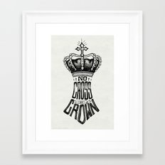 No Cross, No Crown Framed Art Print