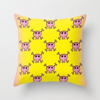 Pink Lemonade Punk Skull… Throw Pillow