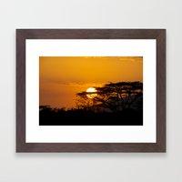 African sun Framed Art Print