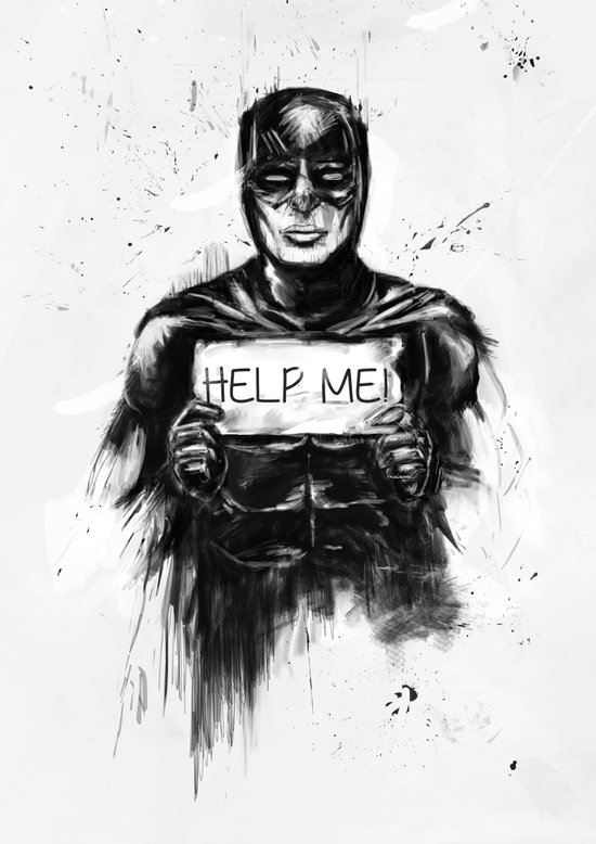 help me! Canvas Print