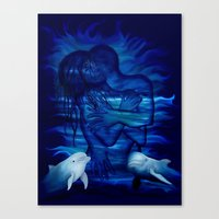 Passion act - pair with Dolphin pair Canvas Print