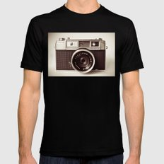 Camera Mens Fitted Tee Black SMALL