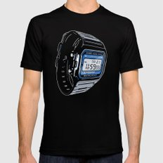 Casio F-105 Digital Watch SMALL Black Mens Fitted Tee
