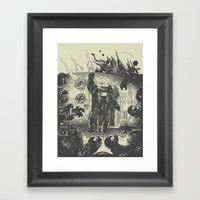 Space Slugs Die Easy Framed Art Print