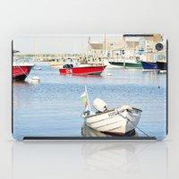 Boats Reflecting in Harbor in Nantucket iPad Case
