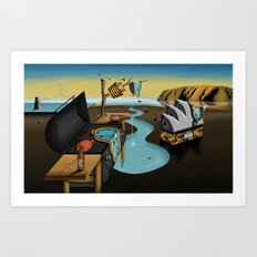 Where Time Stands Still - Surreal Sydney  Art Print