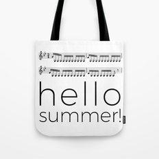 Hello summer! (white) Tote Bag