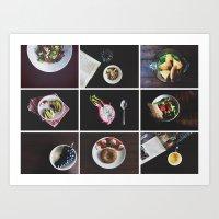 Morning stories - DARK set Art Print
