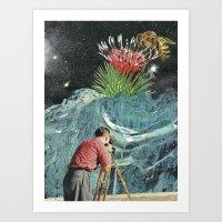 Spaceflower Art Print