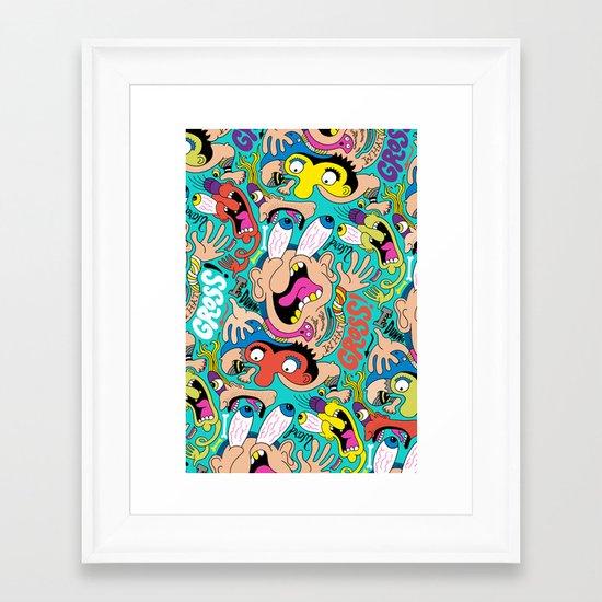 Weird Pattern Framed Art Print